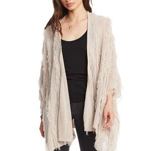 CHASER Open Front Kimono Pink Sand Size XS/S